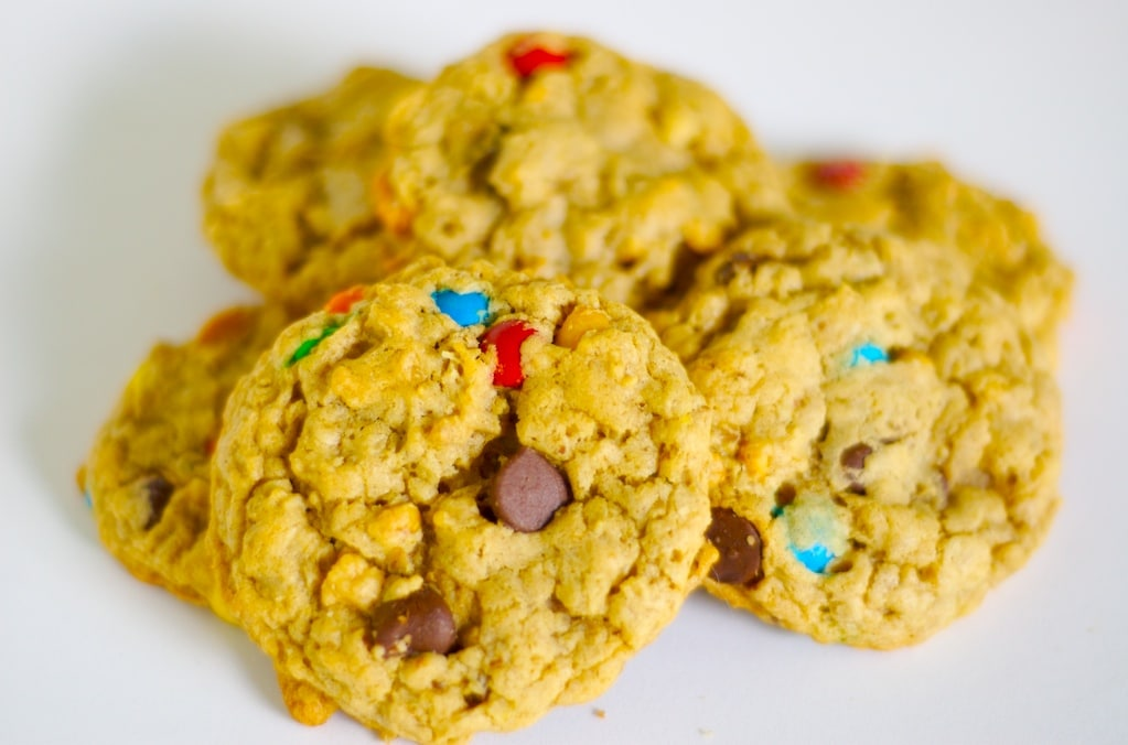 Monster Cookies are big, chewy cookies packed with all kind of good stuff. These are irresistible!