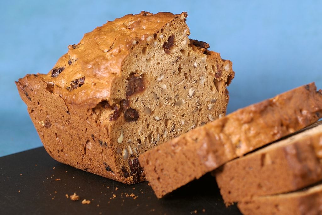 Kahlua Date Nut Bread is a delicious twist on traditional date bread. Such great flavor! - Bake or Break