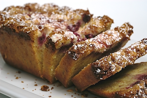 Raspberry, White Chocolate, and Almond Bread is sweet, nutty, and delicious. Great for a morning treat or even dessert! - Bake or Break