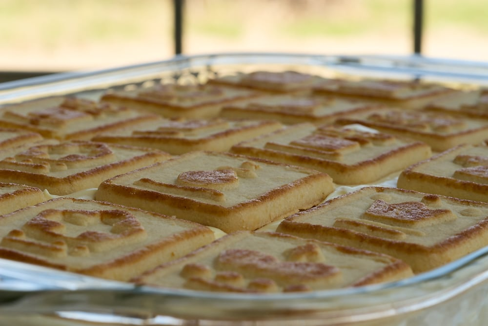 This Banana Pudding strays from the ordinary with a creamy filling made with cream cheese, whipped cream, and pudding.