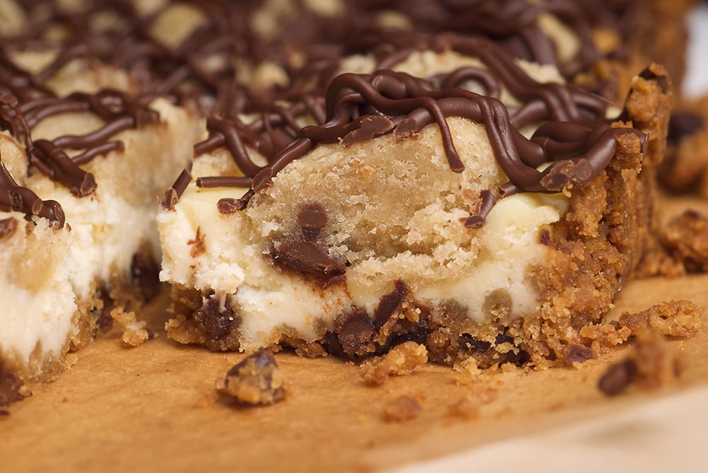 Chocolate Chip Cookie Dough Cheesecake Bars | Bake or Break