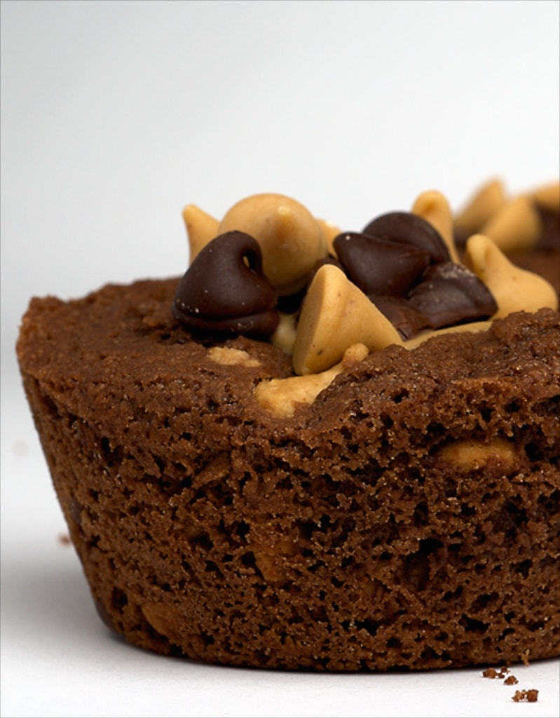 Brownie Peanut Butter Cups are rich brownies filled with sweet, gooey peanut butter and chocolate. - Bake or Break