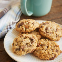 My Favorite Chocolate Chip Cookies are packed with oats, nuts, and plenty of chocolate. - Bake or Break