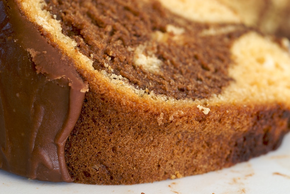 Butterscotch Marble Cake uses a couple of shortcut ingredients to make a simple and delicious dessert. - Bake or Break