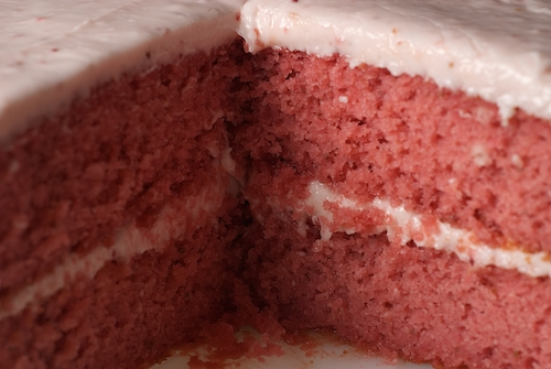 Strawberry Cake With Strawberry Cream Cheese Frosting | Party ...