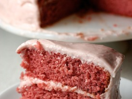 Strawberry Cake with Strawberry Cream Cheese Frosting