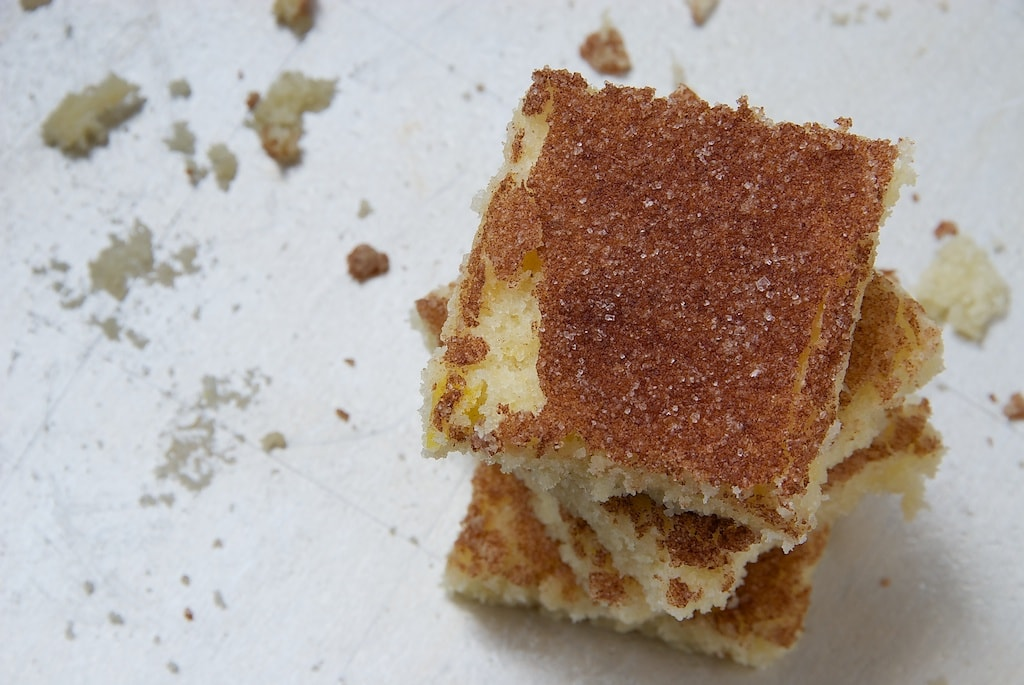 Cinnamon Sugar Cookie Squares are sweet, soft, and flavored with plenty of cinnamon. Great for feeding a crowd!