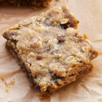 Blueberry Jam Bars combine your favorite jam with a buttery, nutty, oat crust. - Bake or Break