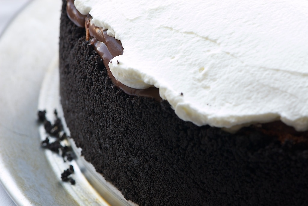 Mississippi Mud Pie is a delicious combination of chocolate, coffee, more chocolate, even more chocolate, and whipped cream. Fabulous! - Bake or Break