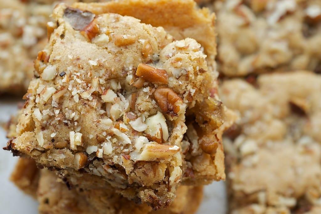 Toffee Nut Squares   Bake or Break