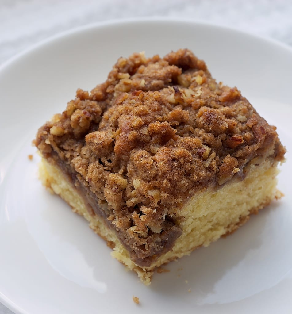Traditional Cinnamon Walnut Coffee Cake Recipe