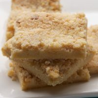 Macadamia Shortbread is a quick, simple, sweet, crunchy cookie that's sure to please! - Bake or Break