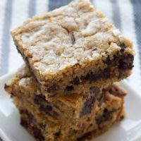Salty Chocolate Chunk Blondies | Bake or Break