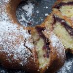 Black Cherry Sour Cream Coffee Cake