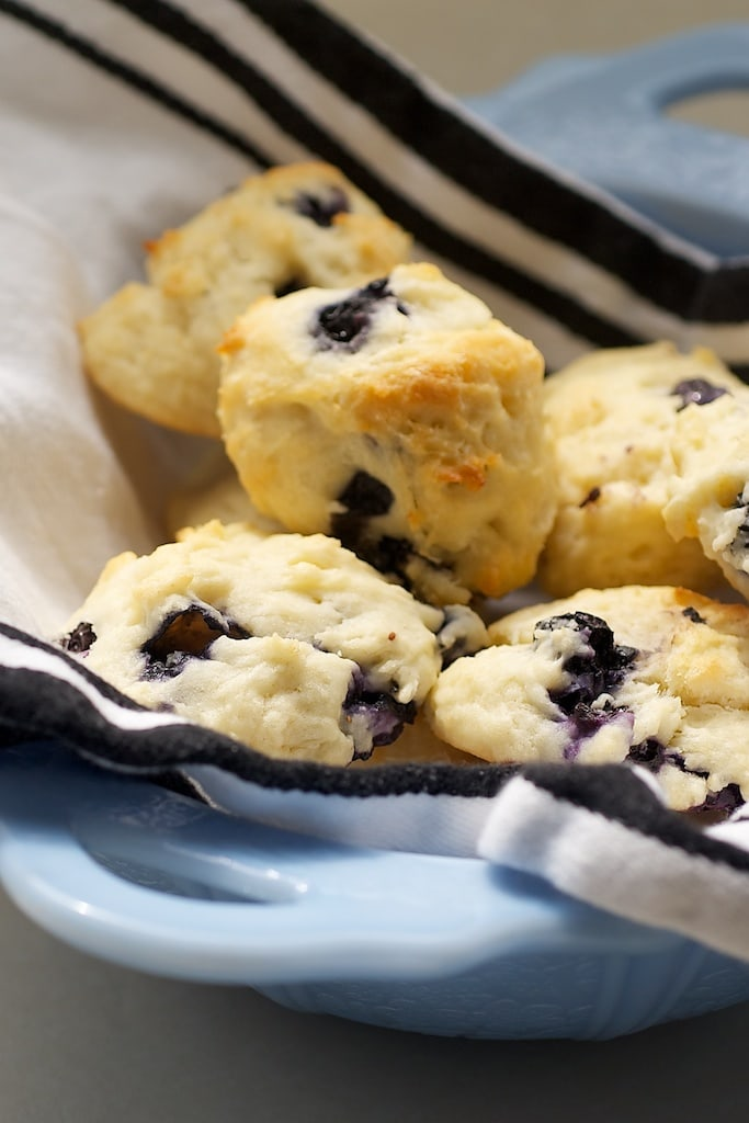 Blueberry Sour Cream Drop Biscuits are a delicious way to add fresh berries to your breakfast baking! - Bake or Break