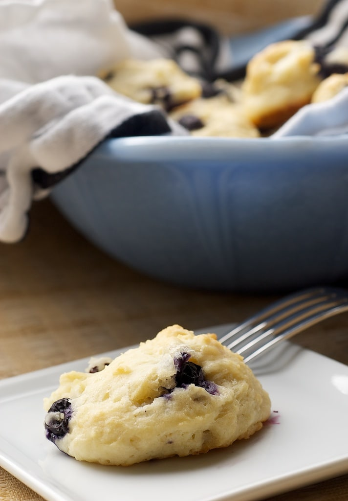 Blueberry Sour Cream Drop Biscuits are a wonderfully sweet breakfast treat!