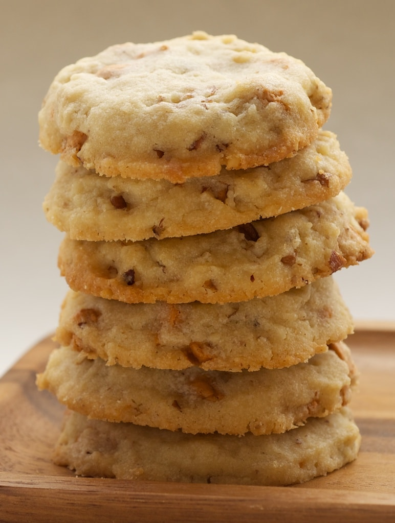Butterscotch Pecan Sandies are wonderfully sweet and nutty.