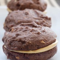 Chocolate-Peanut Butter Sandwich Cookies | Bake or Break