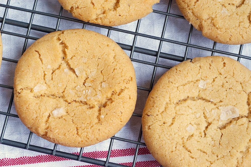 Browned butter and a sprinkling of salt make these Browned Butter Salty Sugar Cookies irresistible! - Bake or Break