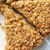 Sour Cream Pear Cake with Pecan Streusel | Bake or Break