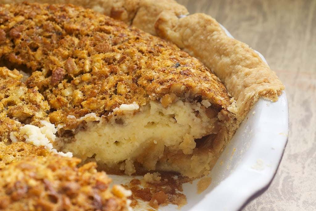 Pecan Cheesecake Pie is a delicious pecan pie-cheesecake hybrid! - Bake or Break