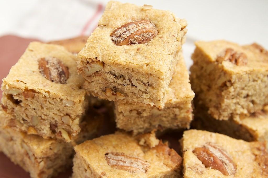 Cinnamon Sugar Pecan Bars | Bake or Break
