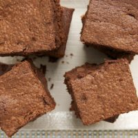 Sour Cream Brownies are tall, dark, and absolutely delicious!