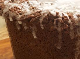 Chocolate Pound Cake with Vanilla Bean Glaze