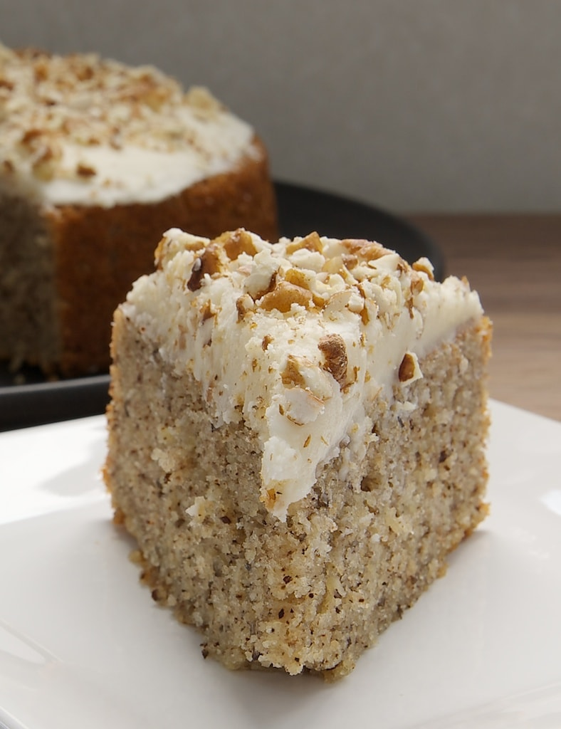 Pecan Cake with Rum Frosting is deliciously sweet, nutty, delicate, and so very delicious! - Bake or Break