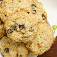 Blueberry White Chocolate Oatmeal Cookies are big, chewy cookies with sweet white chocolate and tart dried berries.