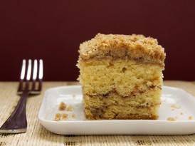 Sour Cream Coffee Cake with Chocolate Cinnamon Swirl