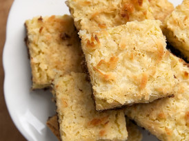 Coconut Bars with Chocolate Shortbread Crust