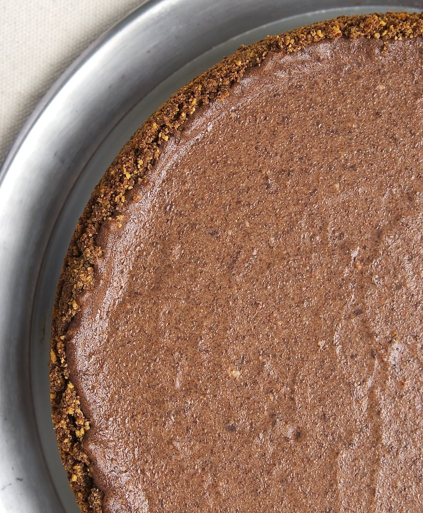 Black Hole Chocolate Cheesecake is a deliciously decadent chocolate dessert with a surprising ingredient. - Bake or Break