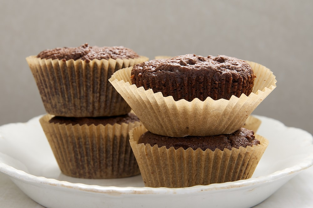 Plenty of chocolate and a shot of espresso make these Mocha Muffins a great pick-me-up treat! - Bake or Break