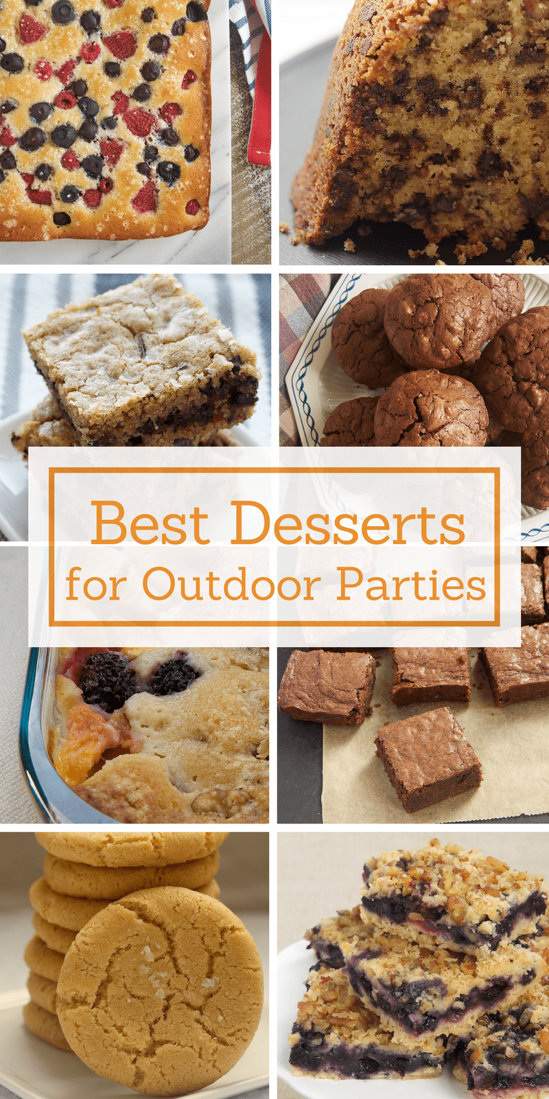 Don't fret over melting desserts and drippy frostings with these desserts that work well for outdoor gatherings. - Bake or Break