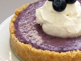 No-Bake Blueberry Cheesecakes