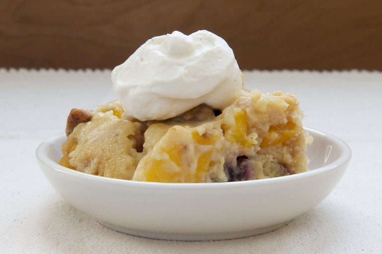 Peach cobbler has been around for ages. I've had many versions from ...