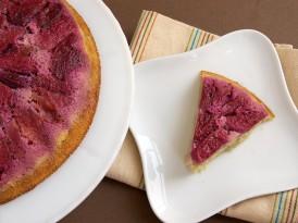 Plum Upside-Down Pudding Cake