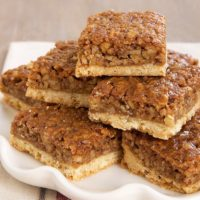 Caramel Pecan Bars are a delicious twist on pecan pie bars. No corn syrup!
