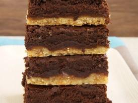Caramel Popcorn Shortbread Brownies