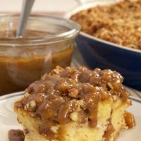 Praline Bread Pudding with Caramel-Pecan Sauce | Bake or Break