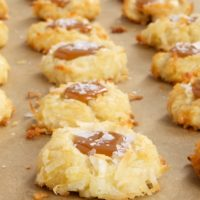 Coconut-Salted Caramel Thumbprint Cookies | Bake or Break