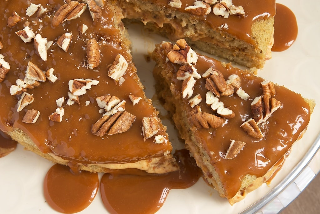 Caramel Praline Pound Cake Recipe