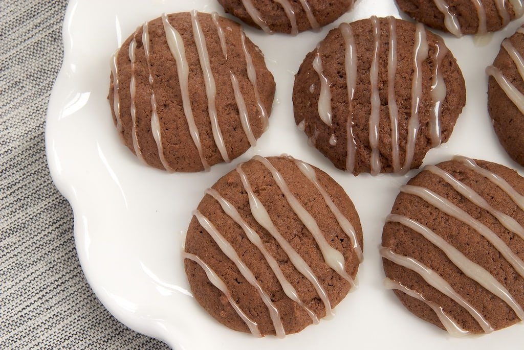 Hot Chocolate Cookies with Marshmallow Glaze are like little bites of hot chocolate!