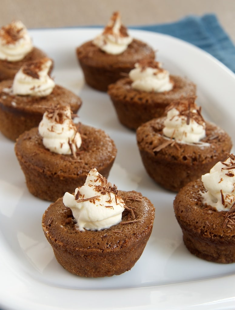 Chocolate Mousse Mini Cupcakes take the popular classic and turn it into little bites of baked chocolate goodness made with just four ingredients. - Bake or Break