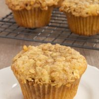 Yogurt and Granola Muffins are soft, moist, sweet, and crunchy.