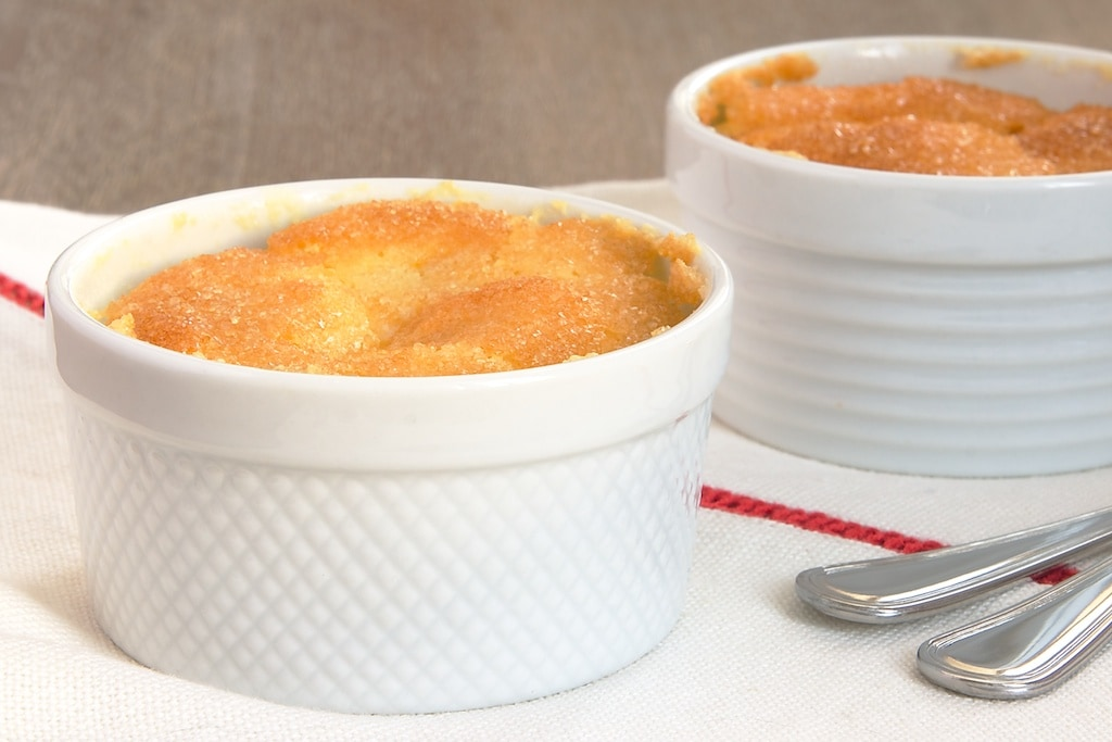 Meyer Lemon Pudding Cakes are sweet, tart, and utterly delicious. - Bake or Break