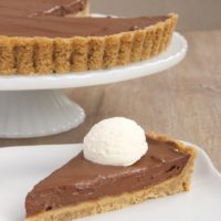 Chocolate Pudding Pie with Peanut Butter Filling | Bake or Break
