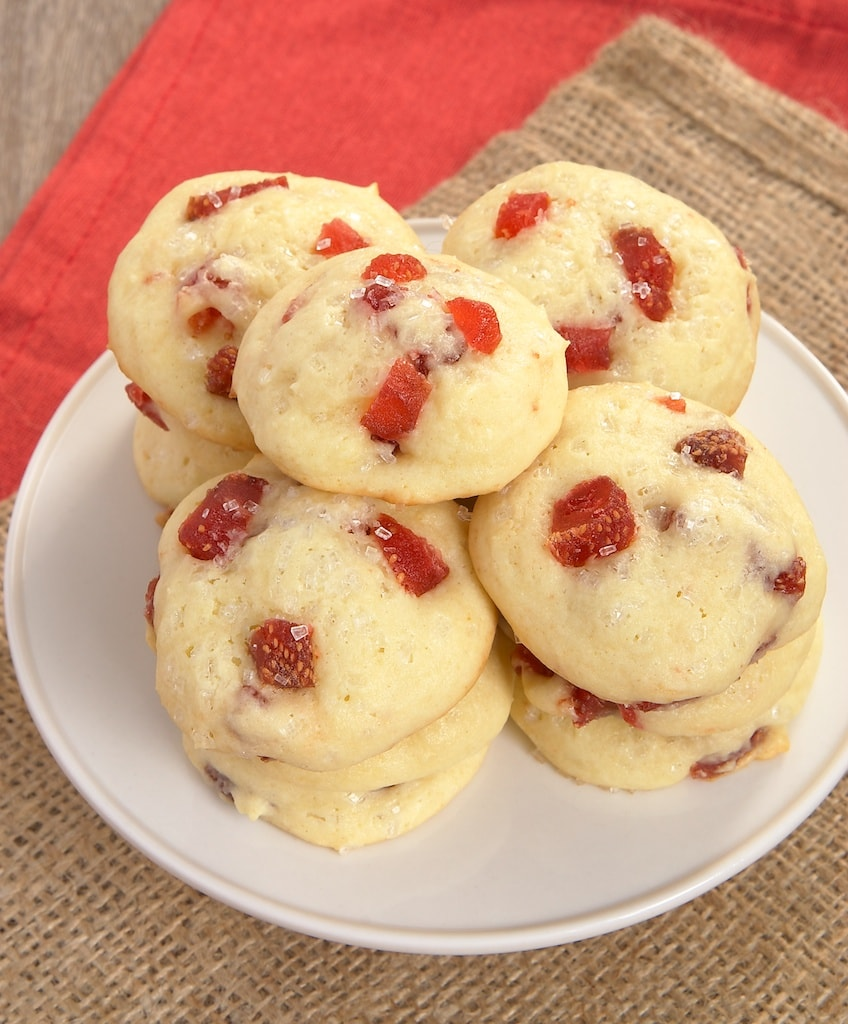 Strawberry Cream Cheese Cookies combine sweet dried strawberries with soft cookies made with cream cheese. - Bake or Break