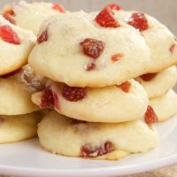 Strawberry Cream Cheese Cookies combine soft, sweet cookies with sweet, tart dried strawberries.